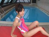 Cock sucking with Tsukasa Aoi by the pool picture 9