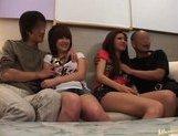 Japanese AV models enjoy an orgy picture 15