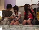 Japanese AV models enjoy an orgy