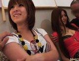 Japanese AV models enjoy an orgy