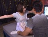 Hot milf chick Mayu Kamiya enjoying cum swallowing picture 1
