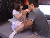 Hot milf chick Mayu Kamiya enjoying cum swallowing