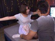 Hot milf chick Mayu Kamiya enjoying cum swallowing