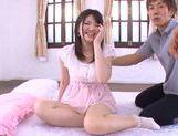 Beautiful teen gal Azusa Akane teases impressive dick picture 15