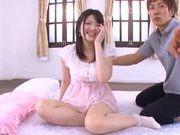 Beautiful teen gal Azusa Akane teases impressive dick
