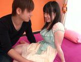 Fresh cum on tits of horny Asian teen Nene Wakana picture 2