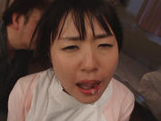Beautiful teen nurse Tsubomi gets mouthful of hot cumasian ass, horny asian}