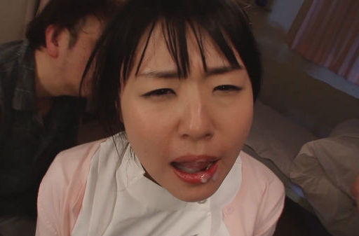 Beautiful teen nurse Tsubomi gets mouthful of hot cum
