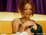 Ai Natsuki Pretty Asian babe Shows Off Her Lingerie Before Giving A Blow Job