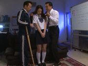 Innocent Asian teen Yuri Hasegawa enjoys hot sex in a threesome