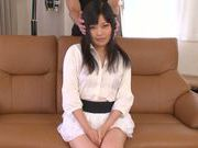 Lascivious sexy hottie Miwa Ikeuchi enjoys teasing her kitty