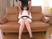Lascivious sexy hottie Miwa Ikeuchi enjoys teasing her kitty