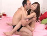 Stunning Japanese doll Miki Ishihara jumps on hard cock picture 13