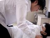 Yummy Asian teen gal Kaho Mizuzaki sucks cock in a hospital