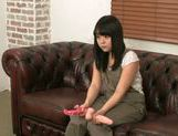 Kinky Japanese teen amateur performs alluring solo action picture 15