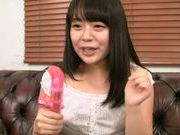 Kinky Japanese teen amateur performs alluring solo action