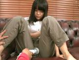 Kinky Japanese teen amateur performs alluring solo actionasian schoolgirl, asian women}