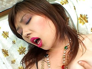Nene Shizuki Lovely Asian babe Enjoys Playing With Her Shaved Pussy