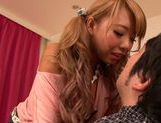 Creamed pussy of hot Asian blonde Chika Kitano picture 3