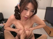 Petite mature amateur milf Ayumi Shinoda enjoys kinky titty fuckinghot asian pussy, young asian}