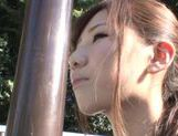 Lovely looking Mikuru Hirase gets load of cum on face picture 2