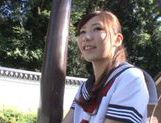 Lovely looking Mikuru Hirase gets load of cum on face