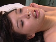 Dirty gangbang along lusty Japanese Tsukasa Aoiasian ass, horny asian}