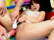 Cute Japanese teen Chika Kitano gets her moist body teased pussy drilledasian chicks, asian wet pussy}