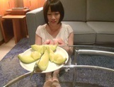 Skinny short-haired teen Yuri Shinomiya gets licked and nailed hard picture 12