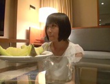 Skinny short-haired teen Yuri Shinomiya gets licked and nailed hard picture 1