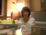 Skinny short-haired teen Yuri Shinomiya gets licked and nailed hard picture 2
