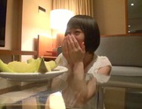 Skinny short-haired teen Yuri Shinomiya gets licked and nailed hard picture 3