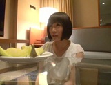 Skinny short-haired teen Yuri Shinomiya gets licked and nailed hard picture 4