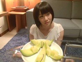 Skinny short-haired teen Yuri Shinomiya gets licked and nailed hard picture 5