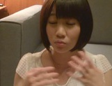 Skinny short-haired teen Yuri Shinomiya gets licked and nailed hard picture 6