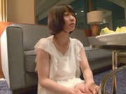 Skinny short-haired teen Yuri Shinomiya gets licked and nailed hard