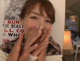 Skinny Japanese gal sucks and bounces on hard boner picture 14