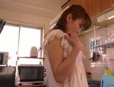 Sex with Asian mature babe Ryo Hitomi in kitchen picture 12