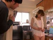 Sex with Asian mature babe Ryo Hitomi in kitchen