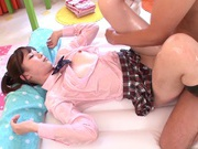 Position 69 scene with hot Maihana Natsunude asian teen, japanese sex, japanese pussy}