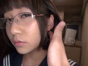 Young sexy schoolgirl Yuri Shinoyama plays with sex toys
