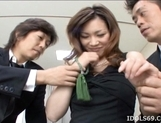 Japanese AV Model Is Enjoying A Cock Pounding picture 12