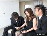 Japanese AV Model Is Enjoying A Cock Pounding picture 13