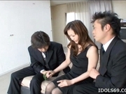 Japanese AV Model Is Enjoying A Cock Pounding