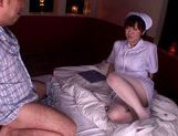MILF nurse Nana Aoyama in pantyhose gets a creampie picture 6