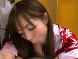 Young amateur asian Riho Nanase gives deep blowjob picture 14