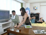 Kinky Asian girl in fashionable lingerie Kana Yume fucked on a table picture 15