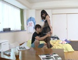 Kinky Asian girl in fashionable lingerie Kana Yume fucked on a table