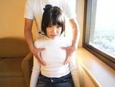 Japanese AV model gets hot pussy fingered picture 3