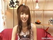 Aisaki Kotone Horny Japanese Doll Plays With Her Pussy